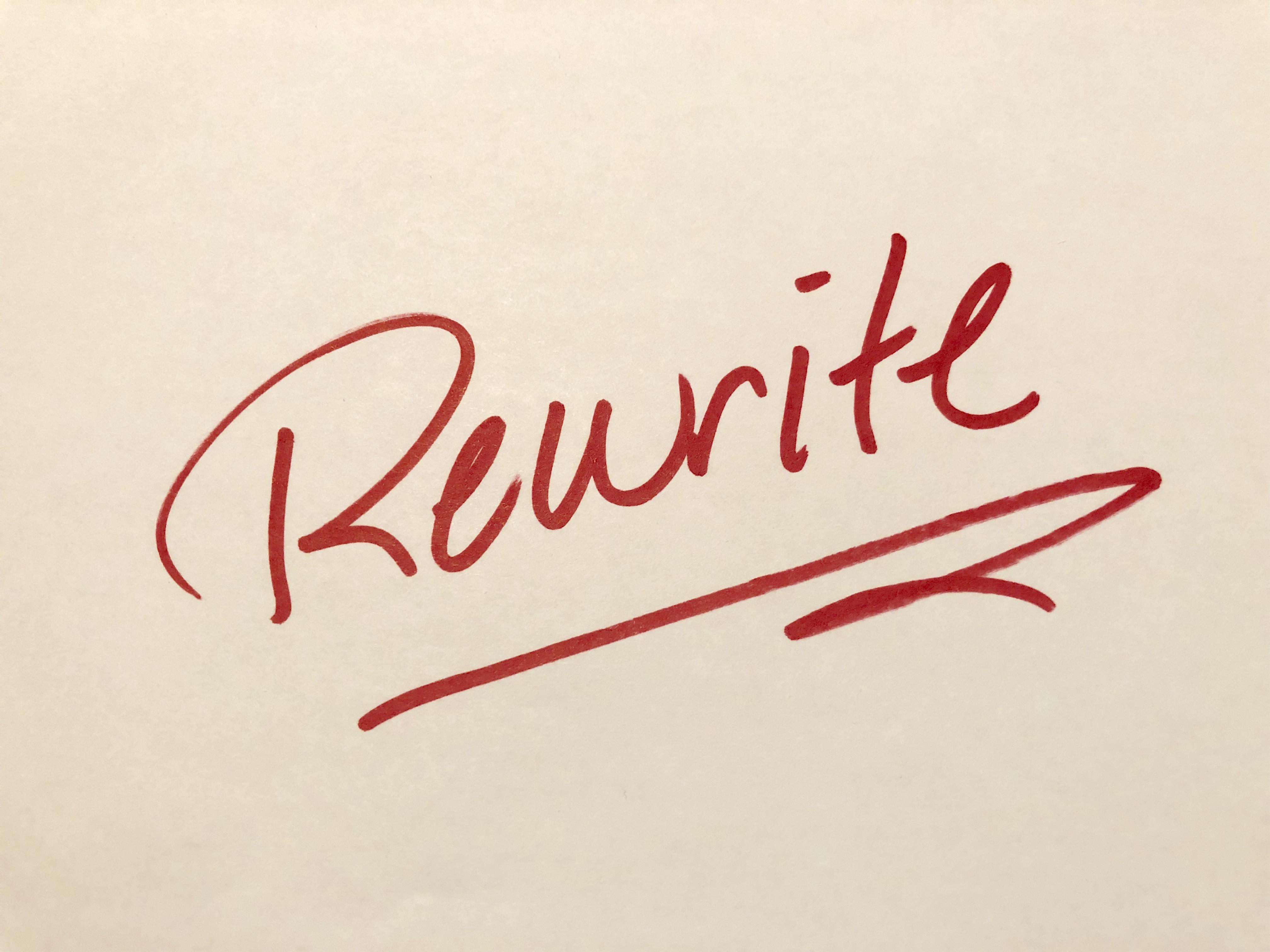 rewrite my words